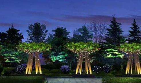 景观照明中泛光灯、射灯、埋地灯的应用