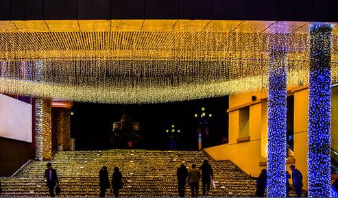 北京蓝色港湾夜景照明赏析