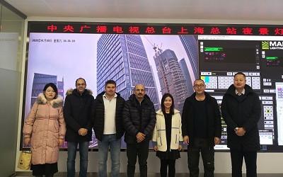 卡塔尔王室一行来访上海国际传媒港项目部
