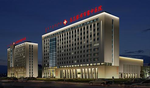 乌兰察布蒙中医院室外泛光照明项目