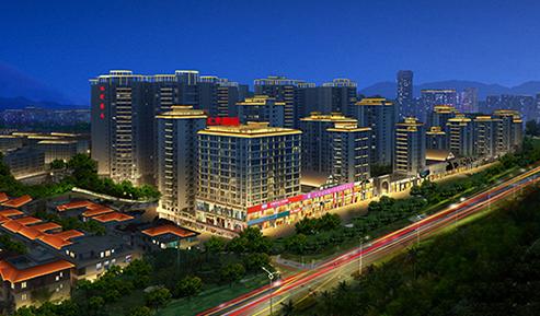 三亚汇丰国际建筑夜景照明项目
