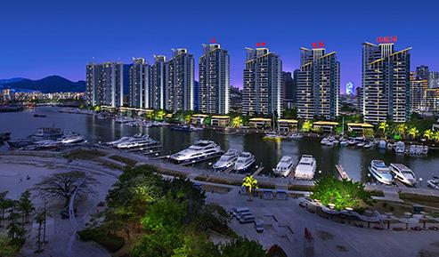 三亚鸿洲国际公馆夜景照明项目