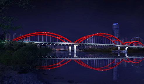 雁滩黄河大桥夜景照明项目