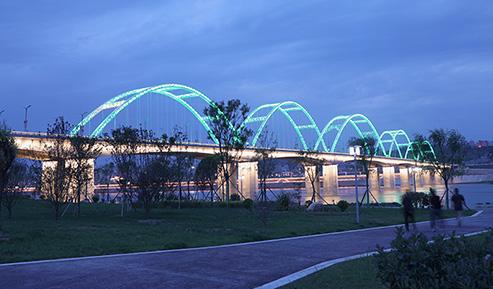 安康城东汉江大桥夜景照明项目