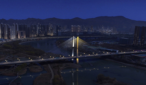 银滩黄河大桥夜景照明项目