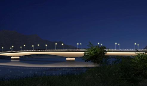 新城黄河大桥夜景照明项目
