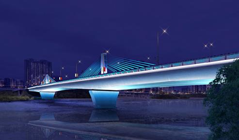 小西湖黄河大桥夜景照明项目