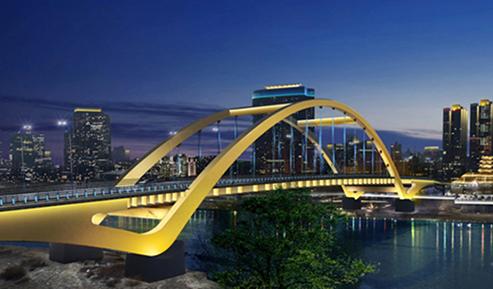 金雁黄河大桥夜景照明项目