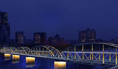 黄河中山桥夜景照明项目