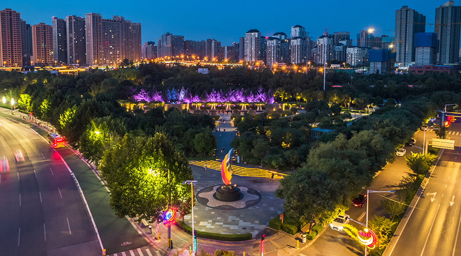 西安永阳公园亮化项目