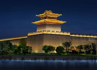 广府古城夜景照明设计