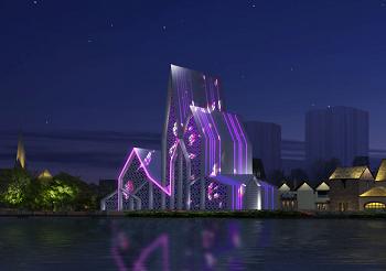 阿勒泰风情街夜景照明设计