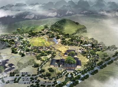 贵州义龙实验区三棵树精品客栈群夜景设计