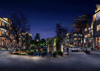 贵州鲁屯古镇夜景照明设计