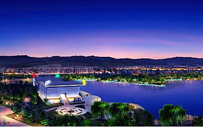 赤峰喀喇沁旗整体夜景照明规划设计