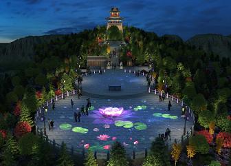 陕西佳县白云山夜景照明规划设计