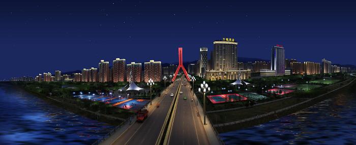 渭河南岸建筑
